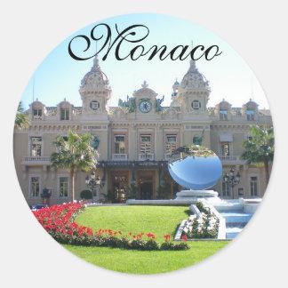 Beautiful Monaco Classic Round Sticker