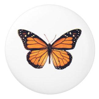 Beautiful Monarch Butterfly vintage art Ceramic Knob