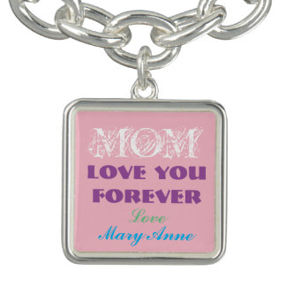 Beautiful Monogram Charm Bracelet For Mom