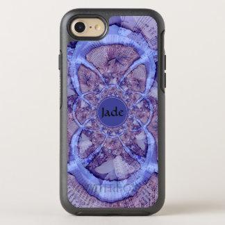 Beautiful monogrammed purple kaleidoscope OtterBox symmetry iPhone 8/7 case