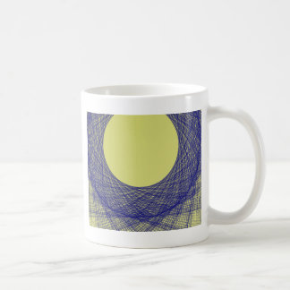 beautiful moon light shine blue color basic white mug