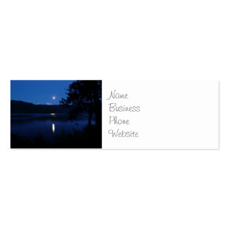 Beautiful Moon Rise Reflecting off Lake Water Pack Of Skinny Business Cards