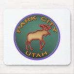 Beautiful Moose Medallion Park City Souvenir Mouse Pad