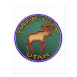 Beautiful Moose Medallion Park City Souvenir Post Cards
