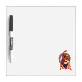 Beautiful morning goddes fairy flies with moon dry erase whiteboards