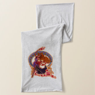 Beautiful morning goddes fairy flies with moon scarf