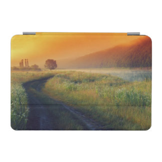 Beautiful morning landscape with the river iPad mini cover