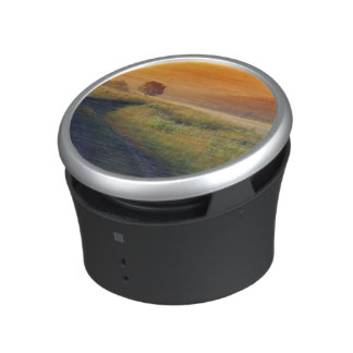 Beautiful morning landscape with the river speaker