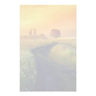 Beautiful morning landscape with the river stationery