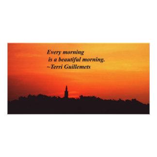 Beautiful Mornings Custom Photo Card