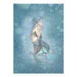 Beautiful Mother and Baby Mermaid Baby Shower Custom Invites