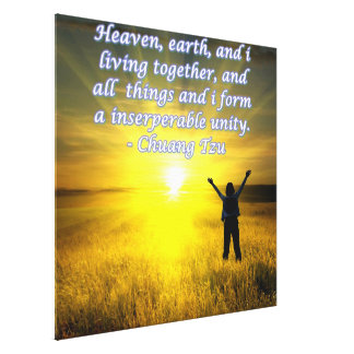 Beautiful motivational picture text of Chuang Tzu Gallery Wrap Canvas