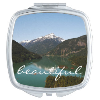 Beautiful Mountain Compact Mirrors For Makeup