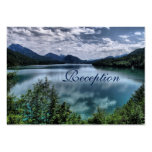 Beautiful Mountain Lake Wedding Reception Cards Pack Of Chubby Business Cards