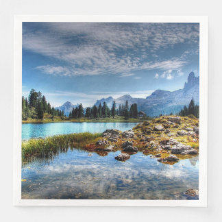 Beautiful Mountain Meadow Scenery Paper Napkins