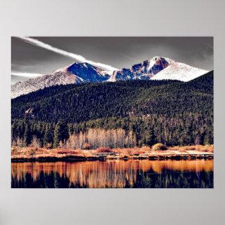 Beautiful Mountain Scene with Lake Poster