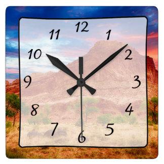 Beautiful Mountains Canyon View Clock