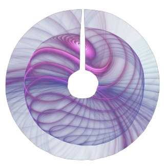 Beautiful Movements Abstract Fractal Art Pink Brushed Polyester Tree Skirt