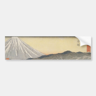 Beautiful Mt. Fuji in Japan circa 1800s Bumper Sticker