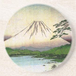 Beautiful Mt. Fuji in Japan, circa 1800s Coaster