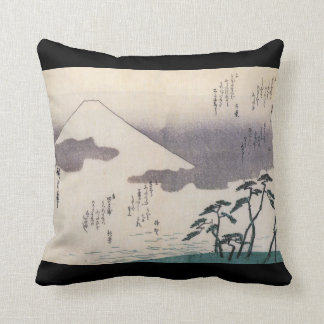 Beautiful Mt. Fuji in Japan circa 1800s Cushion