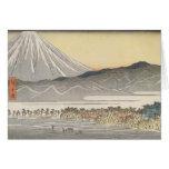 Beautiful Mt. Fuji in Japan circa 1800s Greeting Card