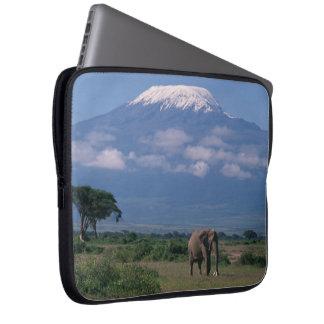 Beautiful Mt.Kilimanjaro Elephant Laptop Sleeve