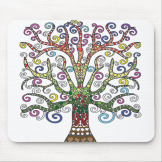Beautiful Multi-Colored Tree Mouse pad