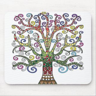 Beautiful Multi-Coloured Tree Mouse pad
