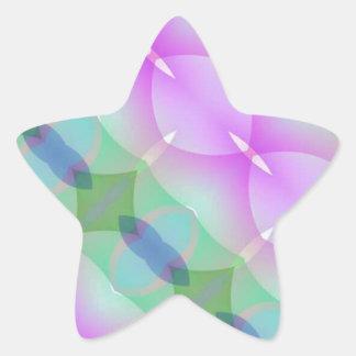 Beautiful Multi-Shaped Colorful Fractal Star Sticker