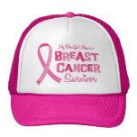 Beautiful Mum Breast Cancer Survivor Caps