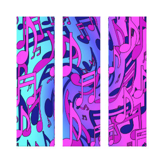 Beautiful Music Colorful Upbeat Musical Notes Canvas Prints
