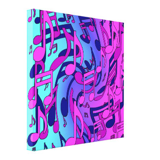 Beautiful Music Lively Upbeat Musical Notes Canvas Print