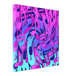 Beautiful Music Lively Upbeat Musical Pattern Canvas Prints