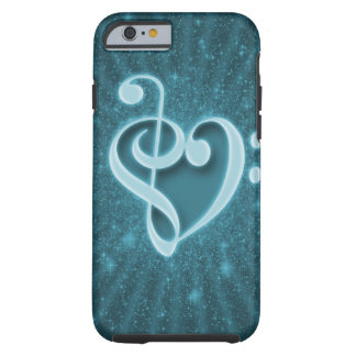 Beautiful music notes put together as a heart tough iPhone 6 case