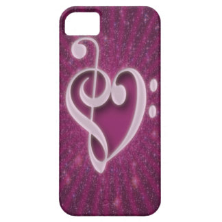 Beautiful music notes put together as heart shape iPhone 5 case