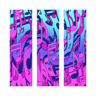 Beautiful Music Upbeat Dancing Musical Notes Gallery Wrap Canvas