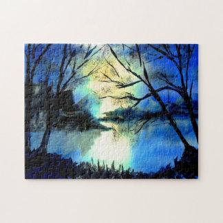 Beautiful Mysterious Watercolour Sunset Jigsaw Jigsaw Puzzle