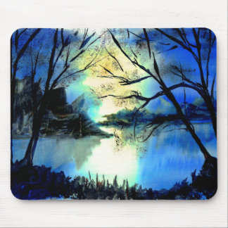 Beautiful Mysterious Watercolour Sunset Mousepad