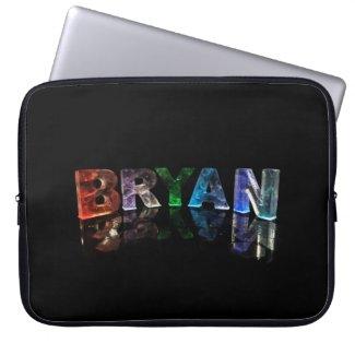 Beautiful Name - Bryan in 3D Lights Computer Sleeves