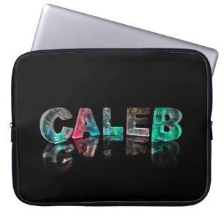 Beautiful Name - Caleb in 3D Lights Computer Sleeve