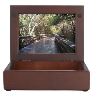 Beautiful Naples FL Nature Path Picture Keepsake Box