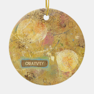 Beautiful natural fun abstract art unique painting christmas ornament