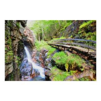 Beautiful Natural Waterfall Scenery NH Poster