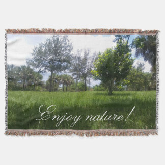 Beautiful Nature Park Picture Throw Blanket