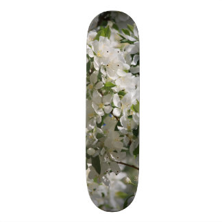Beautiful Nature Photo Of White Apple Blossom 20.6 Cm Skateboard Deck