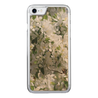 Beautiful Nature Photo Of White Apple Blossom Carved iPhone 8/7 Case