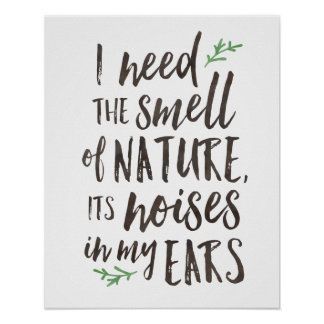 Beautiful Nature Typography Poster or Print