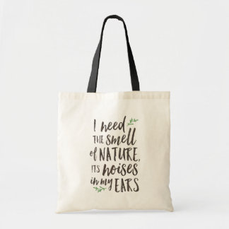 Beautiful Nature Typography Tote Bag