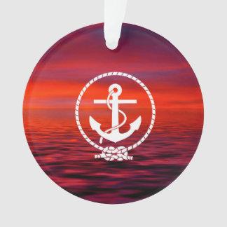 Beautiful nautical Anchor  Sunrise colourful Cloud Ornament